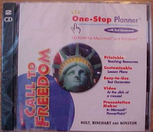 9780030653537: One-Stop Planner With Test Generator CD-ROM (Holt Call To Freedom)