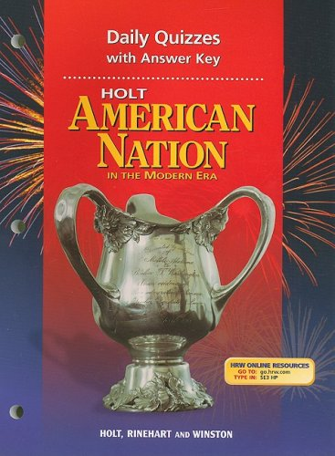 9780030653940: Holt American Nation Daily Quizzes with Answer Key: In the Modern Era