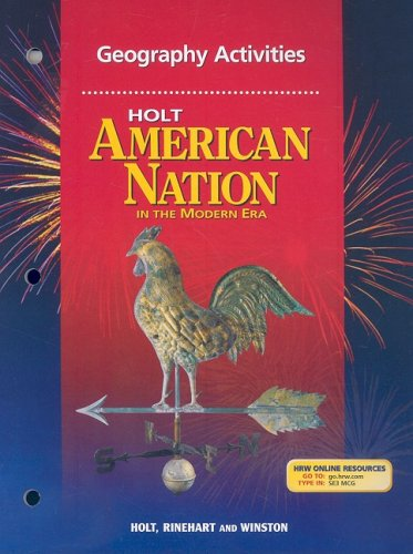 9780030653964: Holt American Nation: In the Modern Era: Geography Activities and Guided Reading Strategies with Answer Key