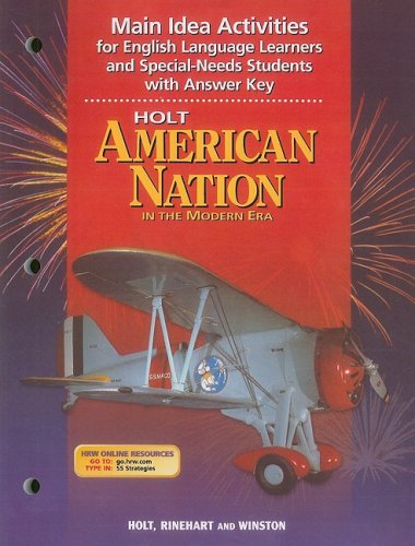 9780030654022: Holt American Nation: Main Idea Activites for English Grades 9-12 In the Modern Era