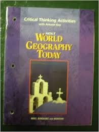 9780030654114: Critical Thinking Activities with Answer Key Holt World Geography Today