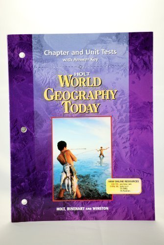 9780030654121: Chapter and Unit Tests with Answer Key for World Geography Today