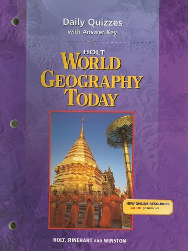 9780030654145: Holt World Geography Today Daily Quizzes with Answer Key
