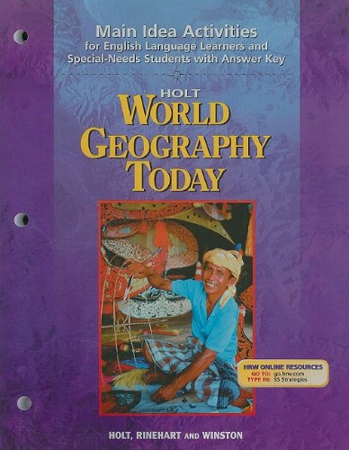 9780030654190: Holt World Geography Today: Main Idea Activities for English Language Learners and Special-Needs Students with Answer Key