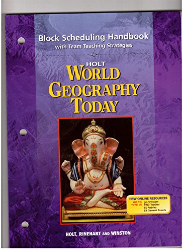 9780030654398: Block Scheduling Handbook with Team Teaching Strategies Holt World Geography Today