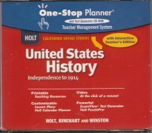 9780030655234: Holt United States History California: Teacher One-Stop CD-Rom Grades 6-8 Beginnings to 1914
