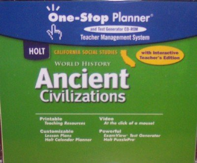 9780030655265: One-Stop Planner and Test Generator & Interactive Teacher's Edition (World History: Ancient Civilizations)