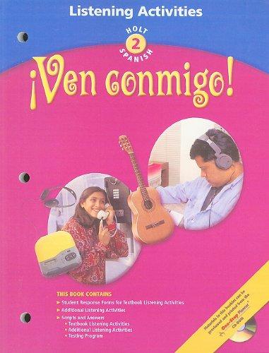 9780030655487: Ven Conmingo! Holt Spanish, Level 2: Listening Activities