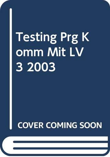 9780030655869: Testing Prg Komm Mit LV 3 2003