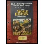 9780030657337: World History: The Human Journey (Block Scheduling Handbook with Team Teaching Strategies