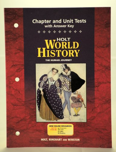 World History : The Human Journey - Chapter and Unit Tests: Holt Rinehart & Winston