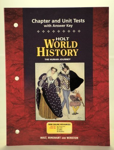 9780030657344: World History : The Human Journey - Chapter and Unit Tests