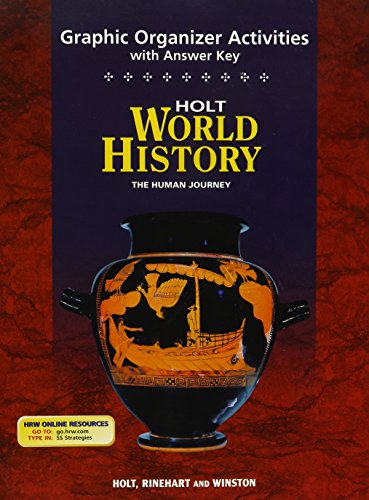 9780030657436: Holt World History: Human Journey: Graphic Organizer Activites Grades 9-12