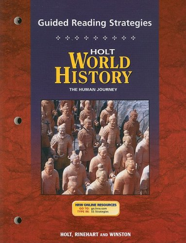 9780030657443: Holt World History: Human Journey: Guided Reading Strategy Grades 9-12