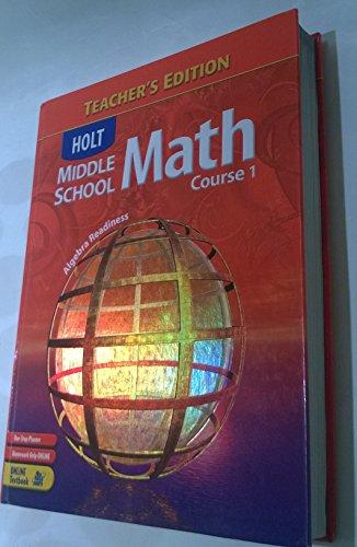 9780030657993: Holt Middle School Math, Course 1, Teacher's Edition