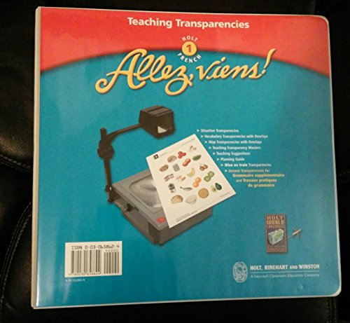 Allez, Viens! French, Course 1: Teaching Transparencies (2003 Copyright): Holt, Rinehart and ...