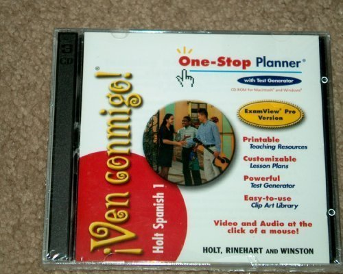 9780030658969: ¡Ven conmigo!: Teacher's One-Stop Planner CD-ROM with ExamView Assessment Suite Level 1