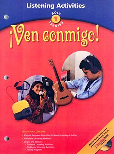 9780030659089: Ven conmigo!: Holt Spanish (Holt world languages)