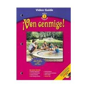 Ven Conmigo! Holt Spanish 2 Video Guide With Answer Keys (2003 Copyright)