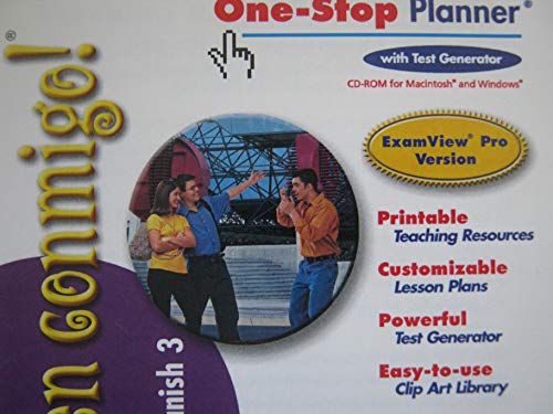 9780030659249: !Ven Conmigo Level 3 One-Stop Planner with Test Generator CD
