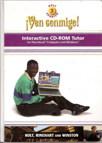 9780030659331: Ven Conmigo! Holt Level 3 Spanish Interactive CD-ROM Tutor