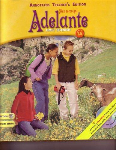 9780030659386: Adelante Ven Conmigo Level 1A Annotated Teacher's Edition