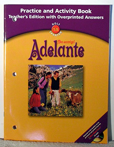 9780030659430: Adelante - Ven Conmigo - Practice and Activity Book - Teacher's Edition