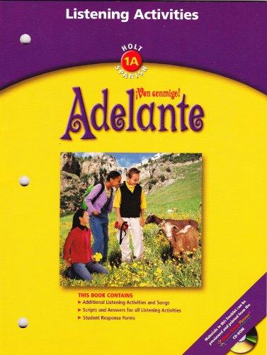 9780030659461: Adelanta - Ven conmigo - Holt 1A Spanish - Listening Activities