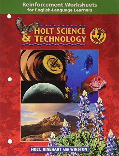 Reinforcement Worksheets for English-Language Learners (Holt Science & Technology, Grade 7)