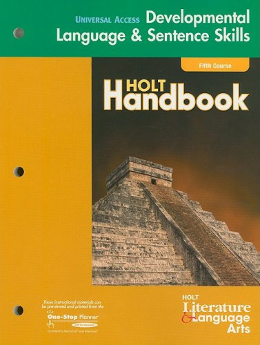 9780030660276: Holt Handbook 2nd Course: California Edition Grade 11: Developmental Language And Sentence Skill Guided Practice