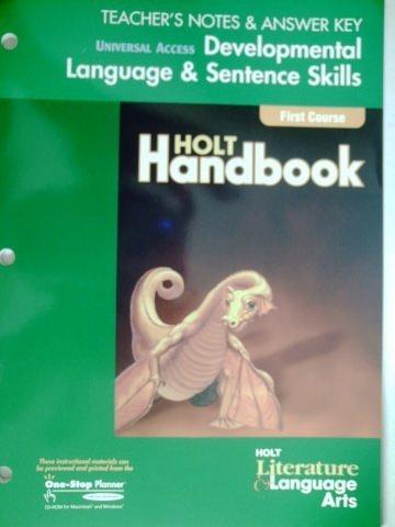 9780030660313: TEACHER'S NOTES & ANSWER KEY (Universal Access, Developmental Language & Sentence Skills)