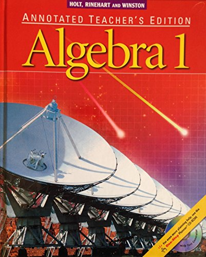 9780030660498: Algebra 1: Annotated Teacher's Edition