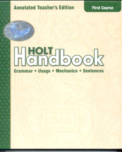 9780030661341: Holt Handbook: Annotated Teacher's Edition First Course