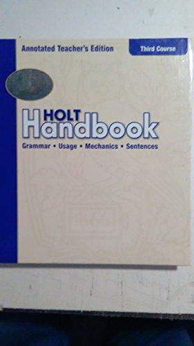 9780030661372: Holt Handbook Grammar Usage Mechanics Sentences Third Course