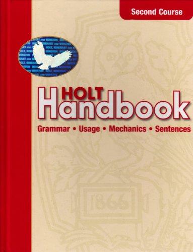 9780030661440: Holt Handbook: Second Course: Grammar, Usage, Mechanics, Sentences