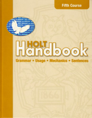 9780030661488: Holt Handbook: Student Edition Fifth Course 2003