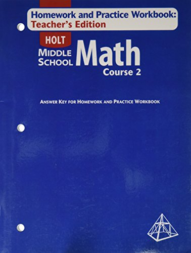 Texas homework and practice workbook holt algebra 1 answer key