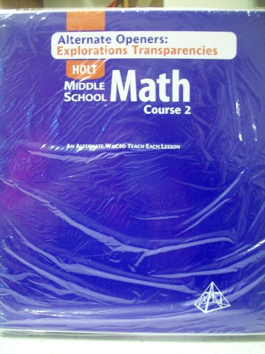 9780030662171: (Alternate Openers Explorations Transparencies) HOLT Middle School Math Course 2