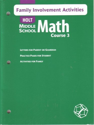 9780030662348: Holt Mathematics: Family Involvement Activities Course 3