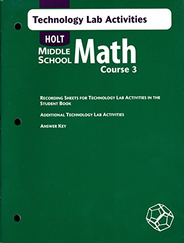 9780030662386: Holt Middle School Math: Course 3 - Technology Lab Activities with Answer Key