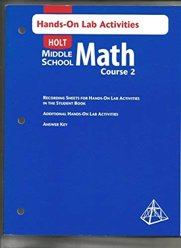 9780030662591: Holt Middle School Math: Hands-On Lab Activities with Answer Key Course 2