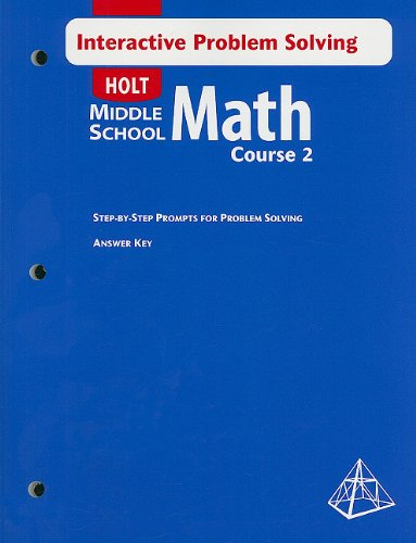 9780030663178: Math Course 2, Grade 7 Interactive Problem Solving With Answer Key: Holt Mathematics