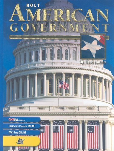 9780030663376: Holt American Government Texas: Student Edition Grades 9-12 2003