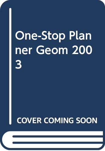 9780030663772: One-Stop Planner Geom 2003
