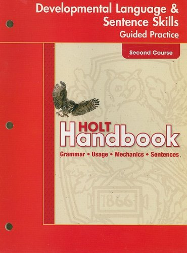 9780030663871: Holt Handbook: Developmental Language and Sentence Skills Guided Practice Second Course