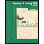 9780030663888: Holt Handbook: Developmental Language and Sentence Skills Guided Practice Third Course