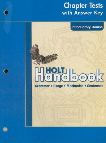 9780030664021: Holt Handbook Chapter Test with Answer Key, Introductory Course
