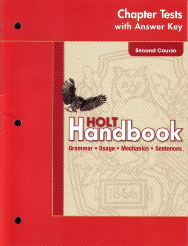 9780030664045: Holt Handbook: Chapter Tests with Answer Key Second Course