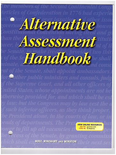 9780030665332: Holt Call to Freedom: Alternative Assessment Handbook
