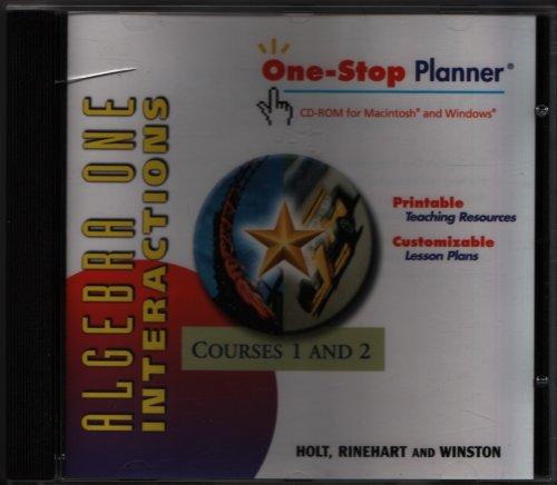 9780030665561: Algebra 1 Interactions Courses 1 & 2 CD-ROM